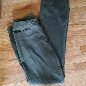 Forest green straight leg chino